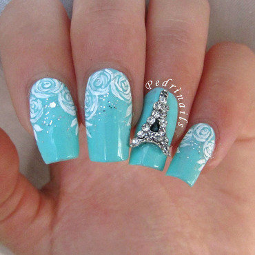 Paris je t'aime nail art by Pedrinails