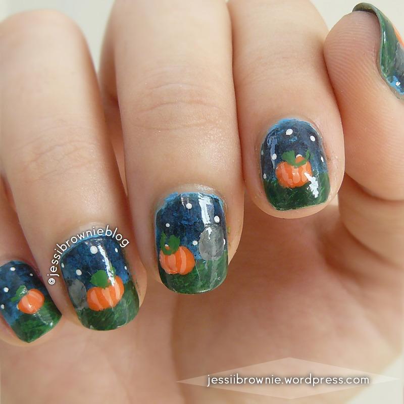 Cementery Pumpkin Patch nail art by Jessi Brownie (Jessi)