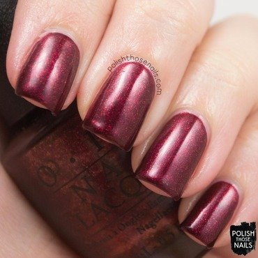 Opi starlight collection let your love shine red shimmer swatch 3 thumb370f