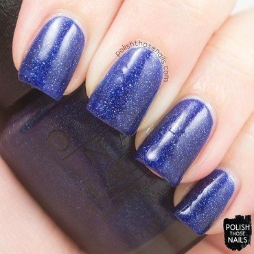 Opi starlight collection give me space blue holographic swatch 3 thumb370f