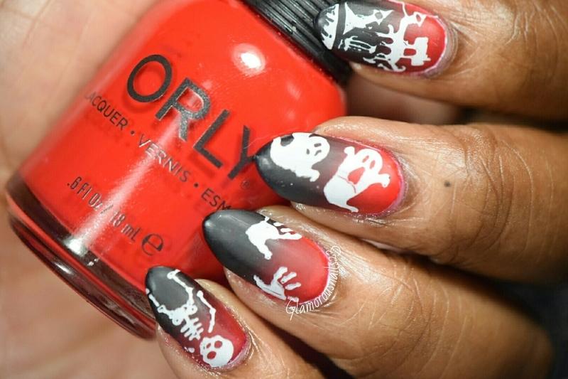 HPB Presents: Halloween nail art by glamorousnails23