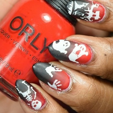 HPB Presents: Halloween nail art by glamorousnails23