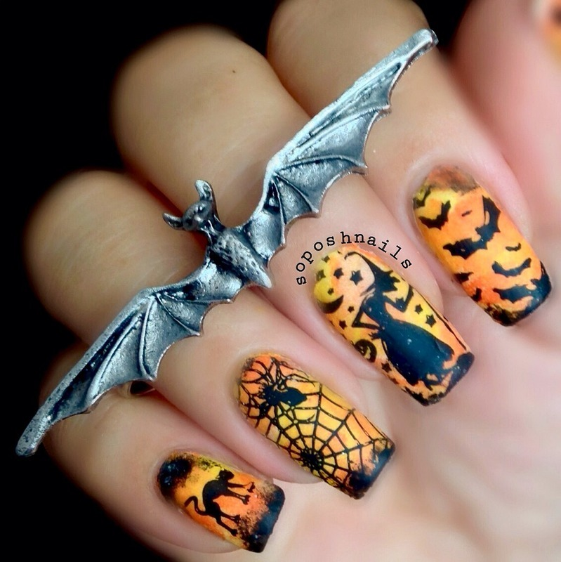 Halloween Witch Nail Art By Debbie Nailpolis Museum Of Nail Art