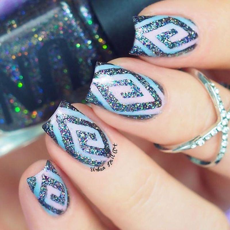New Sparkle Design nail art by Lou