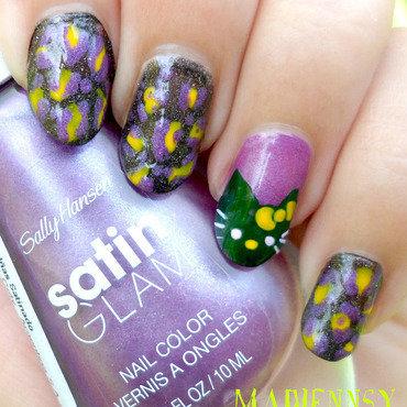 Hello Kitty Zombie Nails ♡  nail art by madjennsy Nail Art