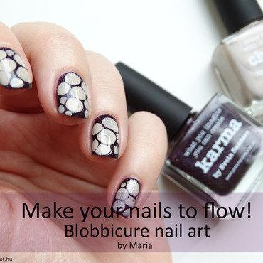 Blobbicure nail art nail art by Maria