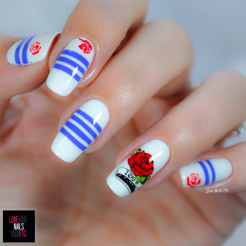 Jean-Paul Gaultier Inspired nail art by Love Nails Etc