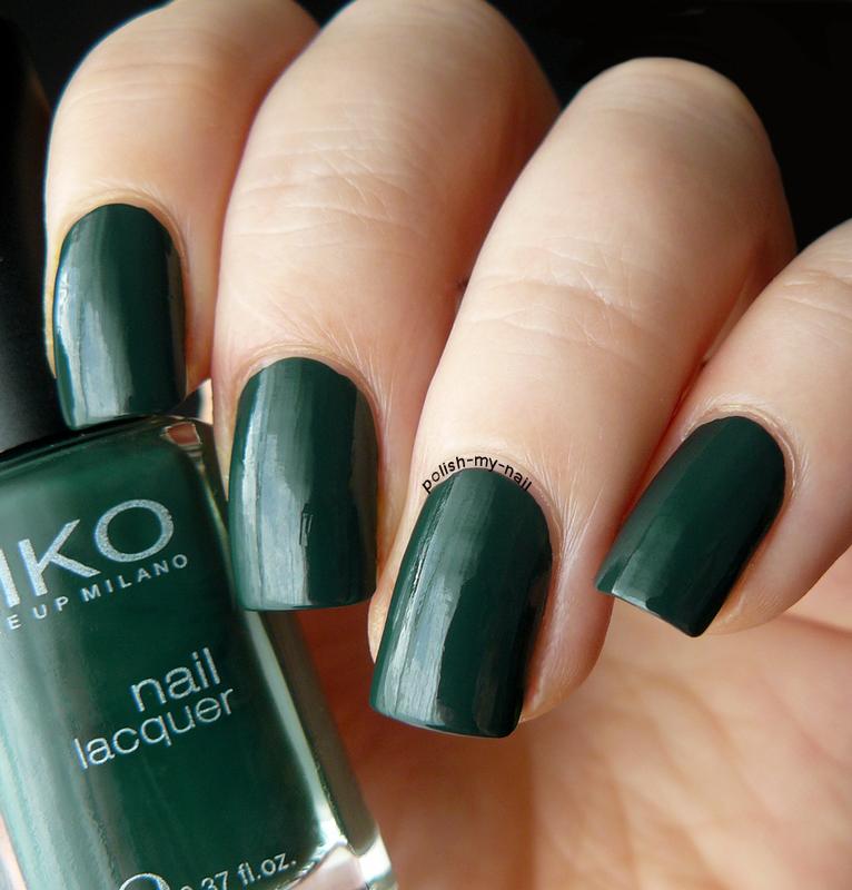 Kiko 347 Dark Green Swatch by Ewlyn