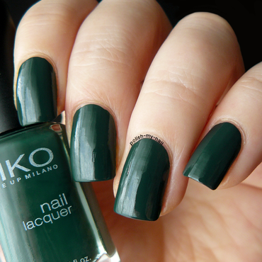 Kiko 347 Dark Green Swatch by Ewlyn