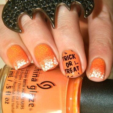 Candy Corn nail art by Lackopfer