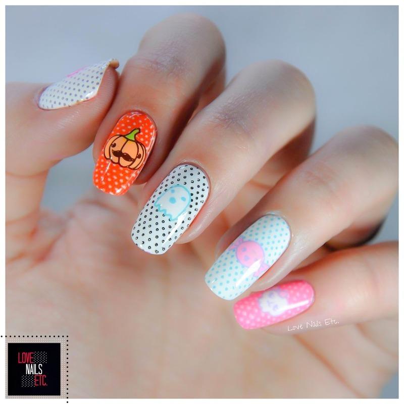 Halloween Kawaii nail art by Love Nails Etc