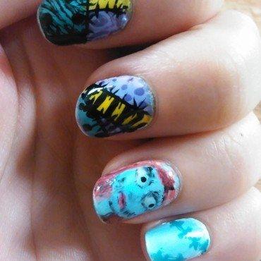 Sally ragdoll nail art by SamanthaB