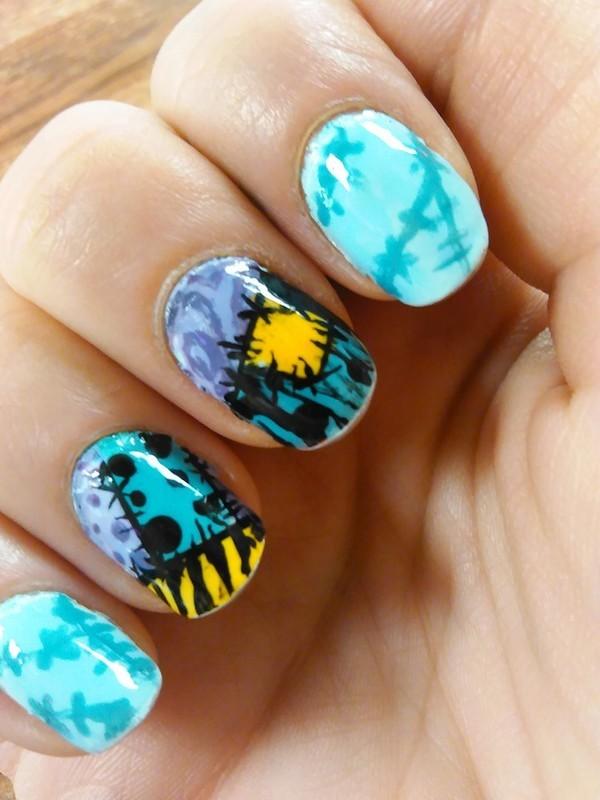 sally's dress nail art by SamanthaB