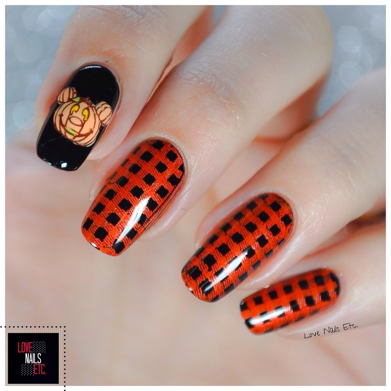 Pumpkin nail art by Love Nails Etc
