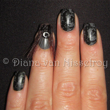 The Grudge nail art by Diana van Nisselroy
