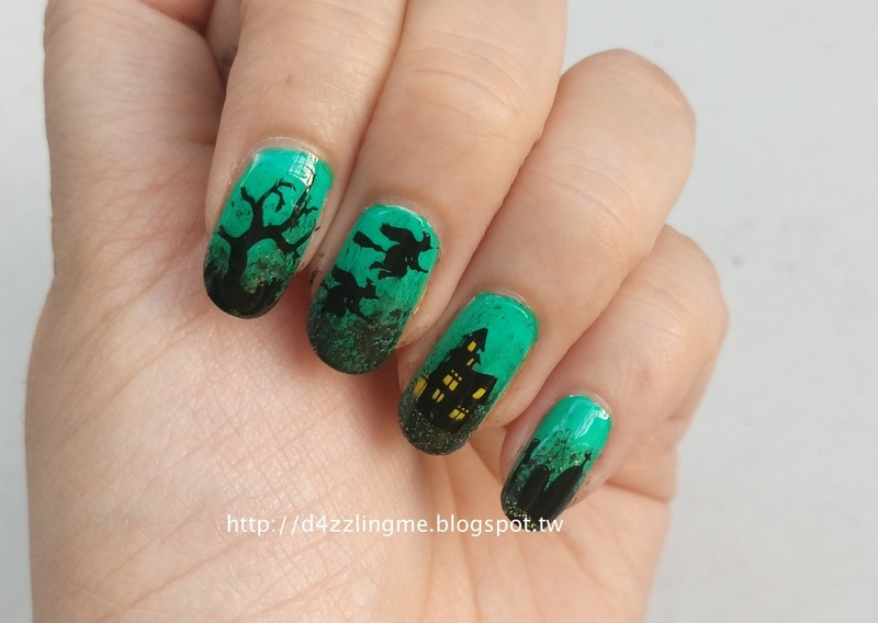 Witches  nail art by D4zzling Me