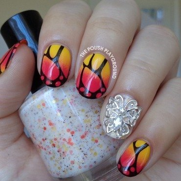 Yellow 20and 20red 20gradient 20butterfly 20wings 20stamping 20nail 20art thumb370f