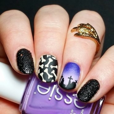 Graveyard nailart nail art by nailicious_1