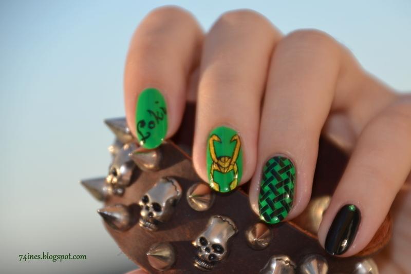 LOKI  nail art by 74ines