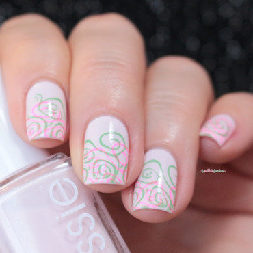 double stamp all the nails nail art by nathalie lapaillettefrondeuse