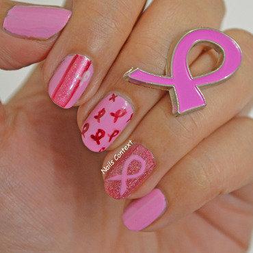 Think PINK nail art by NailsContext