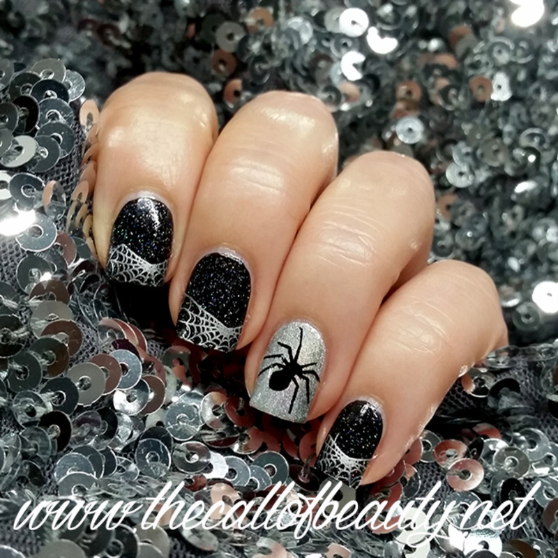 Spiders and Web nail art by The Call of Beauty