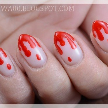 Bloody nails nail art by Jadwiga
