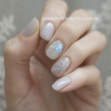 Soft manicure nail art by Passionorkinda