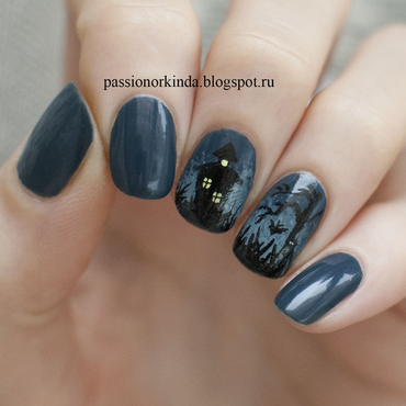 Halloween manicure nail art by Passionorkinda