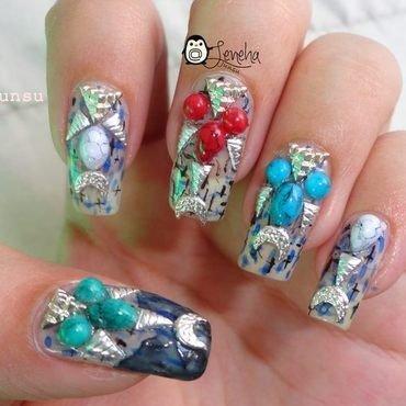 Tribal Halloween Nails nail art by Leneha Junsu