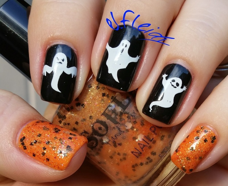 40 Great Nail Art Ideas- Halloween nail art by Jenette Maitland-Tomblin