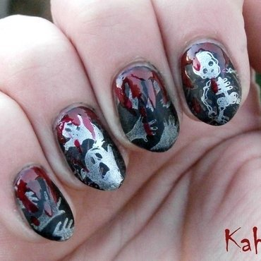 Halloween nail art by Kahaliah