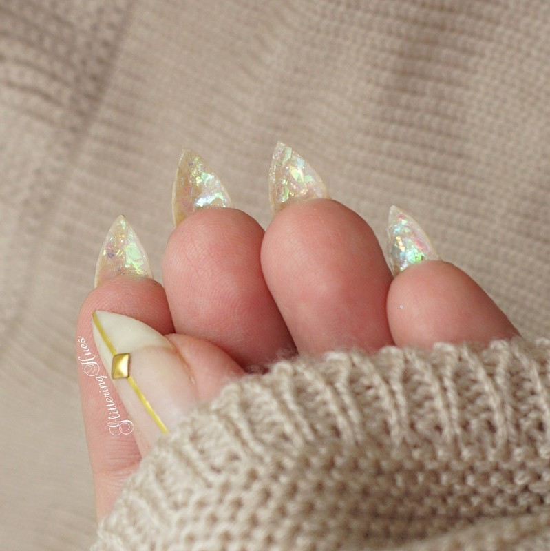Peekaboo Glass Nails  nail art by Glittering Hues