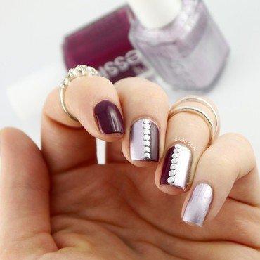 Essie Half Studded nail art by Ann-Kristin