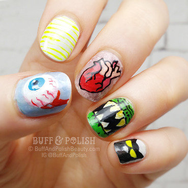 Funky & Keen for Halloween nail art by Buff & Polish