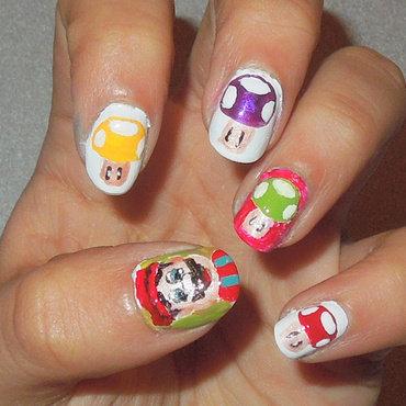 Super Smash Bros nail art by Zainab
