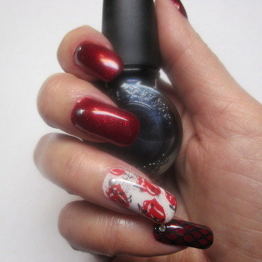 The Rolling Stones nail art by NinaB