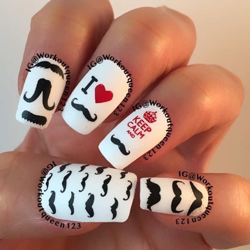 Men Nail Art: Movember Month For Men's Health Nail Art By