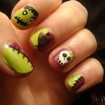 Halloween love story nail art by Stephanie