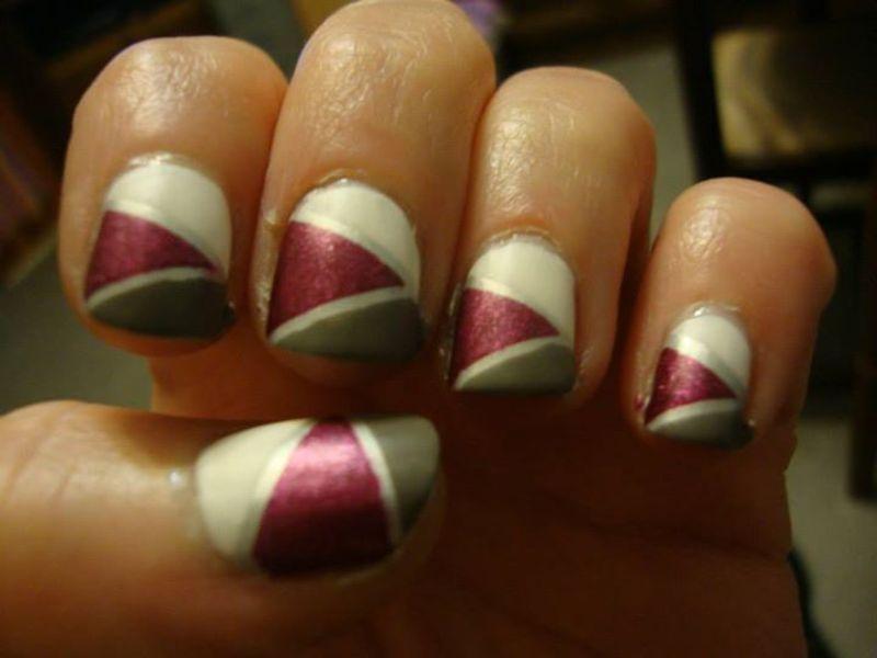 Triangle nail art by Stephanie