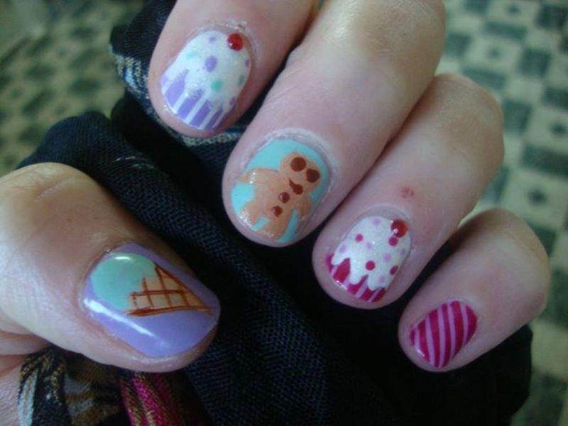 Yummy nail art by Stephanie