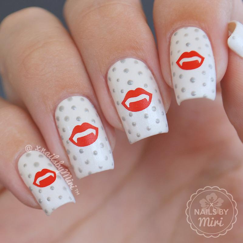 Vampire Lips nail art by xNailsByMiri