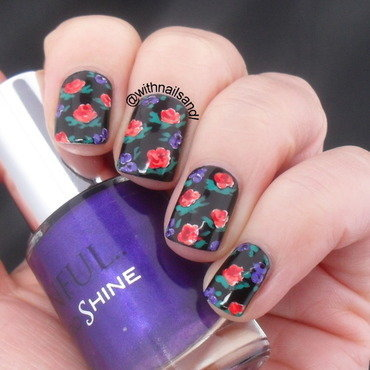 Autumn Floral nail art by WithnailsandI