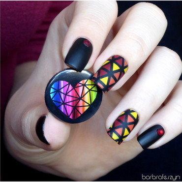 Autumn lanterns nail art by barbrafeszyn