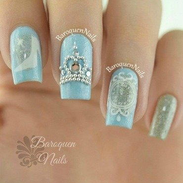 Cinderella  nail art by BaroquenNails