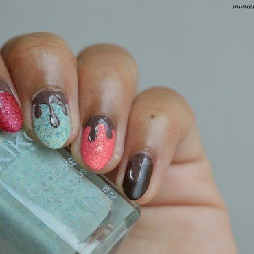 Yummy ! Take an ice cream ! nail art by MimieS Nail