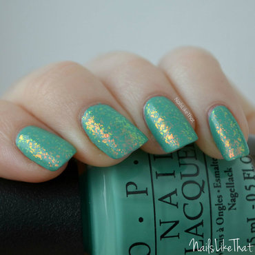 Essie Shine of the Times and OPI My Dogsled Is A Hybrid Swatch by Nicole M