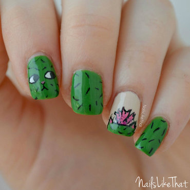 Catus nails nail art by Nicole M