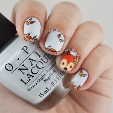 Fox nail art by Julia
