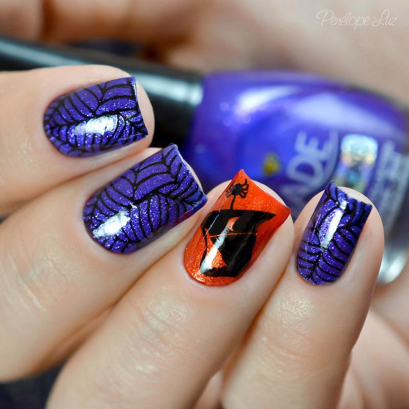 Halloween nail art by Penélope Luz